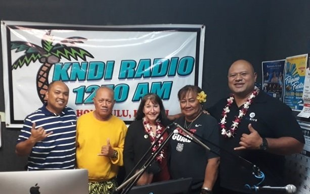 Pam and Rei at KNDI Radio in HI