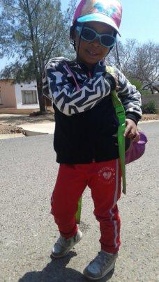 Little girl posing in Botwana