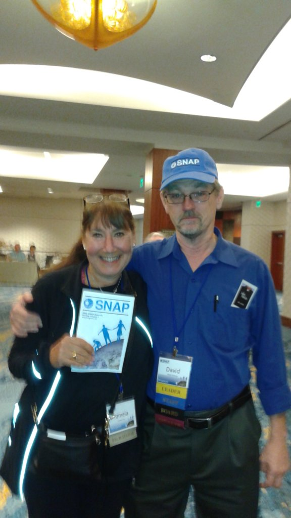 Pamela Pine and David Clohessy, Director of SNAP