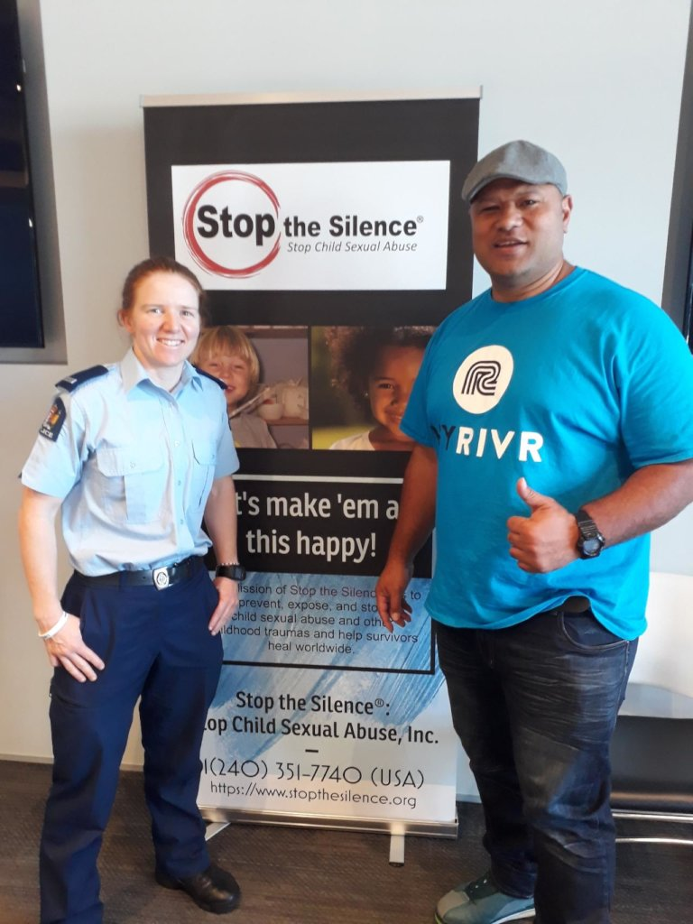 Rei and Policewoman at New Zealand CSA Training