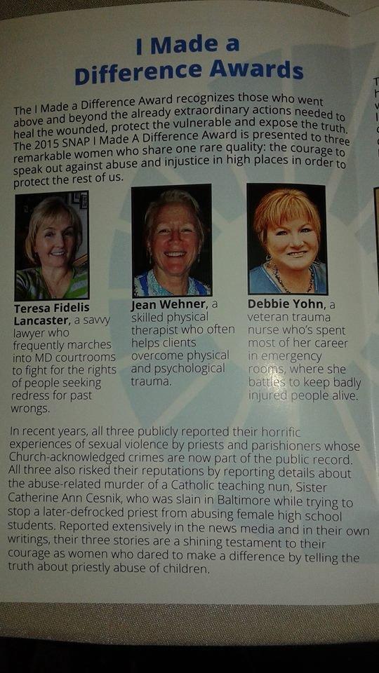 Great work, women awardees!