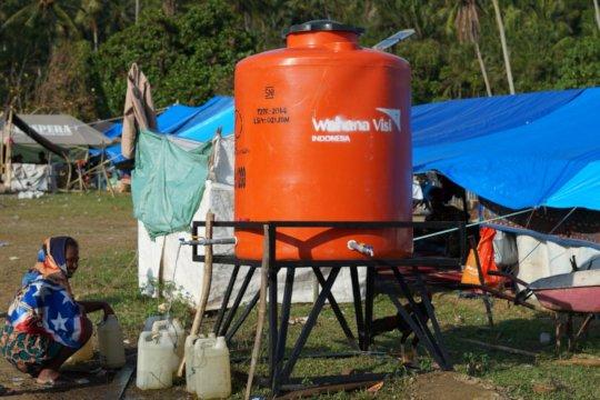 Water tanks provide fresh drinking water