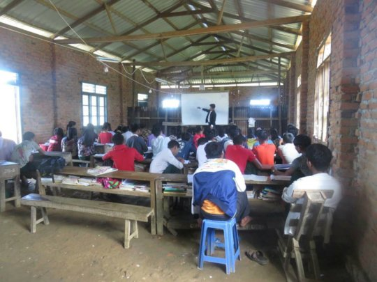 Teaching at the church school