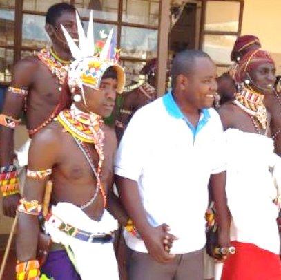 Ezra wigh the Samburu Warriors