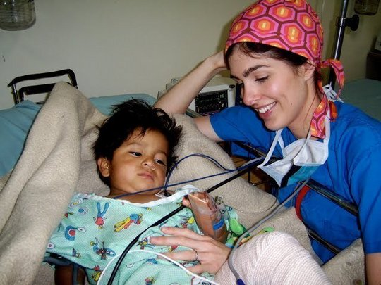 Checking-up on young orthopedic patient