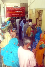 Cataract Patients Waiting for their Turns in Camp