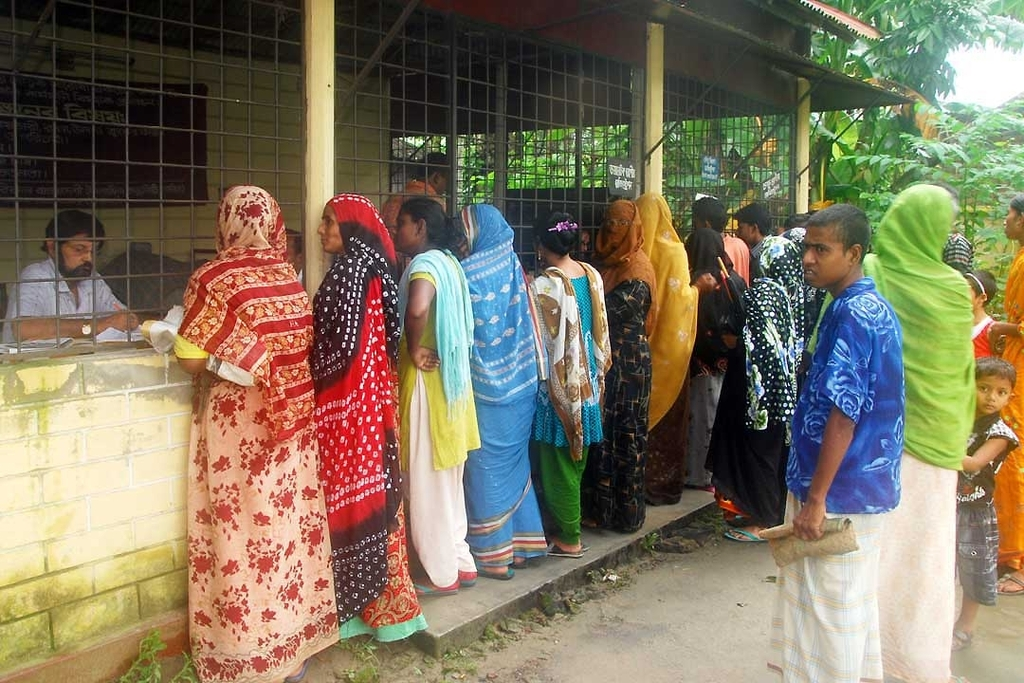 Eye Patients Being Registered