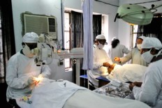 Cataract Surgery being Performed