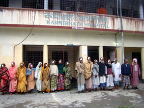 Patients being released after operation