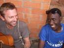 Grant sharing guitar skills to Steven