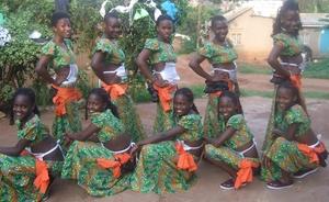Clad in Runyege-Ntogoro Costume