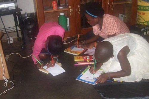 Children Revising for Final Exams
