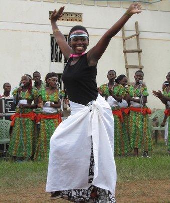 Doreen in a Kinyarwanda Dance