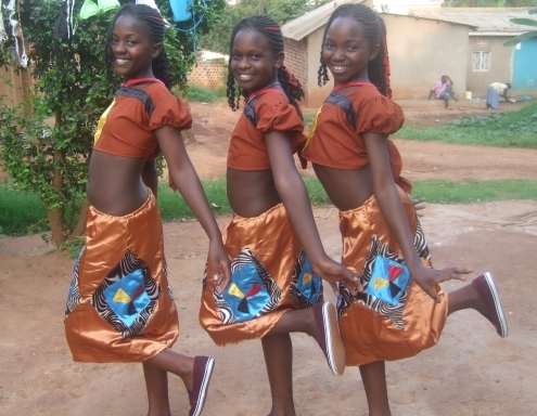 Sylvia, Mary, Angel clad in Otwenge Costume