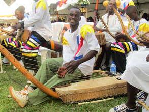 Godfrey rocking on the Bass Adungu