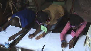 Kids in a drawing competition