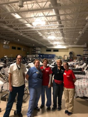 Our volunteers at the intermediate care shelter.