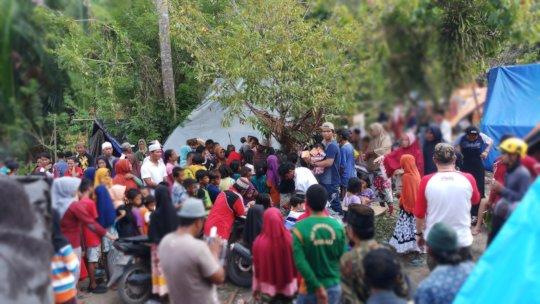 Distributing food, water, medicine, etc