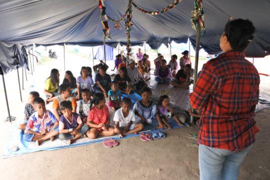 Trauma healing session for kids
