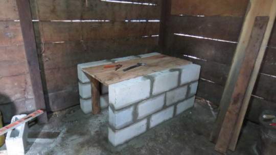 New stoves construction at indigenous communities