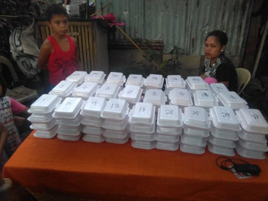 Supporting with meals