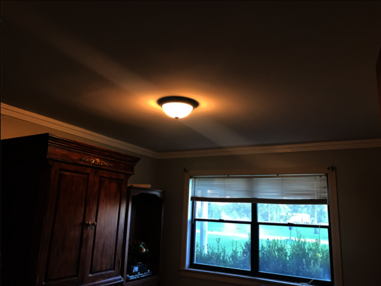 A bedroom ceiling at Michael's home (after)