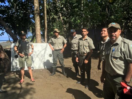 Park rangers camp site in Llorona