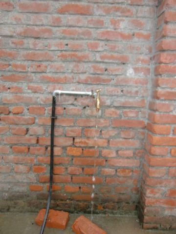 water tap installed at hostel