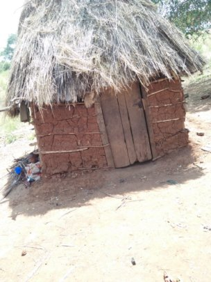 CHWs rethatched the house for the family
