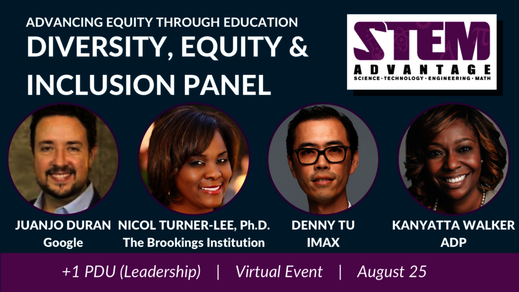 Diversity, Equity & Inclusion panel, Aug 25, 2020