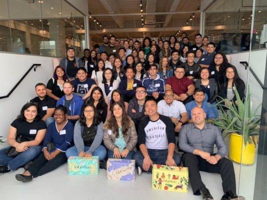 STEM Advantage Scholars at an Onboarding event