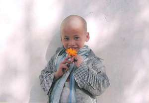 Young Student with a Flower