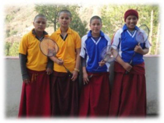 Girls badminton team