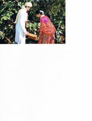 Charu and Salil lay foundation stone