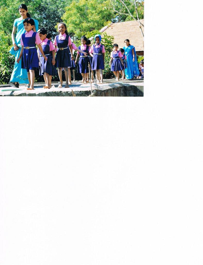 Joyful school children on the marriage day