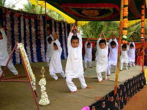 Yoga skills at display