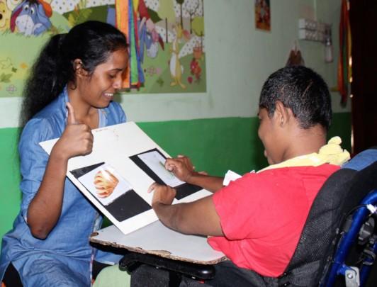 Dilshani developing her communication skills