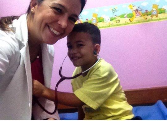 Pediatrician and preschool student