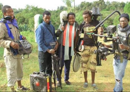 Hot Sun Film Schoolgrads and trainees on location