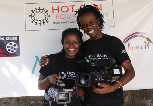 Aida and Josphat, Hot Sun Foundation staff