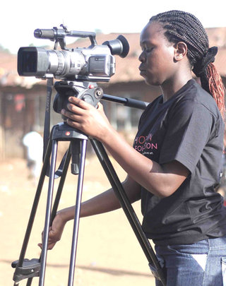 Benta shooting her film