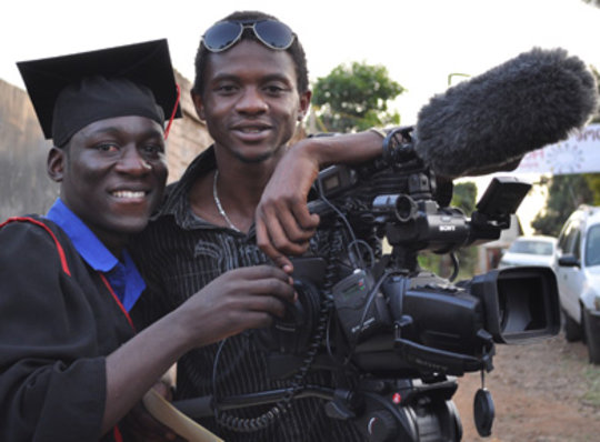 Bonny at Kibera Film School graduation