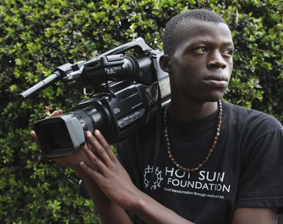 Eric, trainee at Kibera Film School