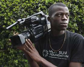 Eric, trainee at Kibera Film School