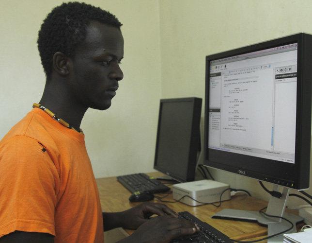 Godfrey writing his first script