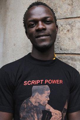 Godfrey Chogo, 24, Kibera Film School trainee