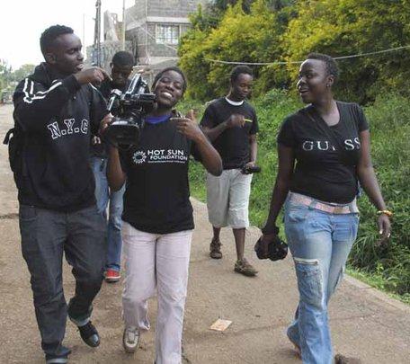 Trainees at Kibera Film School