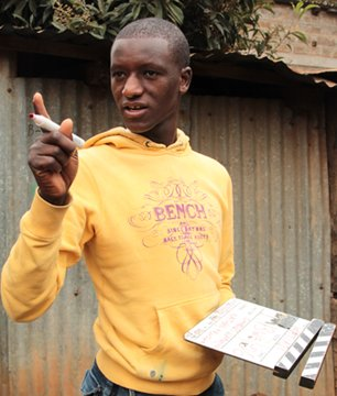 Charles Isaboke, Kibera Film School trainee on set
