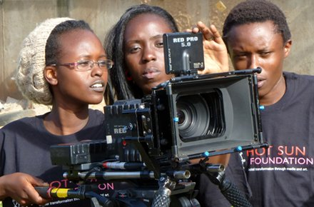 Hot Sun Foundation film trainees