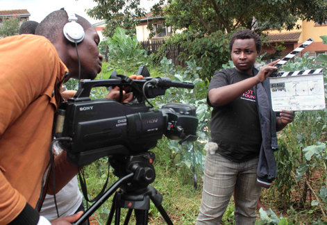 Denis, making films with trainees
